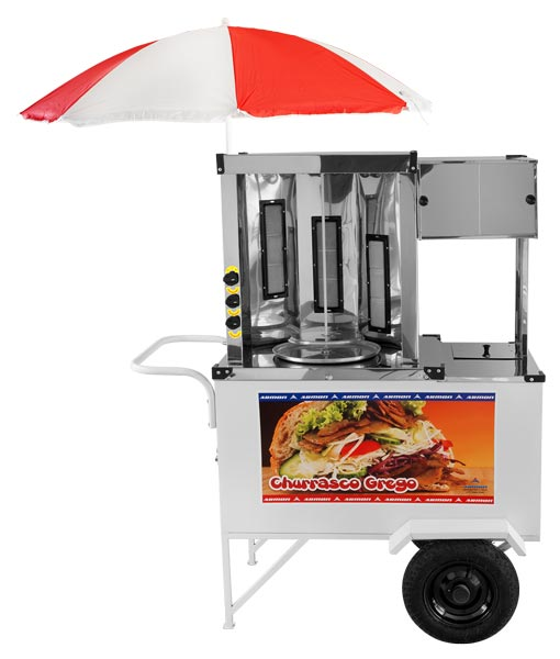 Greek Barbecue Cart with one spit