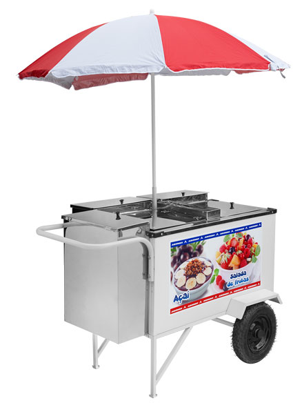 Fruit salad and Açaí LuxuryCart with pneumatic-wheels